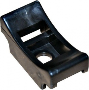CRADLE FOR CABLE TIES BLACK  QTY 100