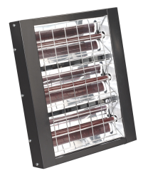 4500W WALL MOUNT INFRARED QUARTZ HEATER QTY 1