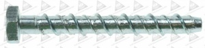 M12 X 130MM HEX HEAD ANKERBOLT Z/P QTY 1
