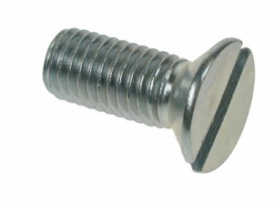 M4 X 30MM SLOT CSK MACHINE SCREW Z/P QTY 100