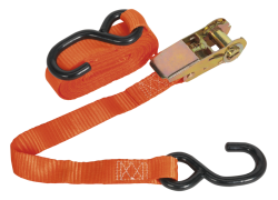 25MM X 4.5MTR J-TYPE  RATCHET TIE DOWNS  QTY 1