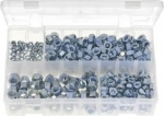 ASSORTMENT BOX OF  UNF STEEL NUTS Z/P 370PC QTY 1