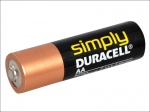 AA ALKALINE DURACELL RE-PACK BATTERIES PK OF 4 QTY 1