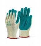 M/P GREEN LATEX P/C GLOVE SIZE EX-LARGE QTY 1PR