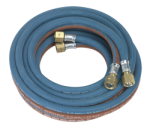 4.5MTR TWIN RUBBER OXYACETYLENE HOSE SET QTY 1
