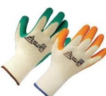 Builders Gloves Latex Dipped Cotton Grip Large Pack Of 5
