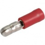 Bullet Terminals 4mm Male Red Qty 100