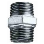 Equal Hexagon Nipple 2'' Galvanised Male bspt Qty 1