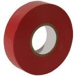 PVC insulation tape (electrical tape) RED qty 1 roll