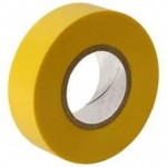 PVC insulation tape (electrical tape) YELLOW qty 1 roll