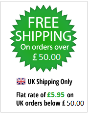 Free UK Shipping on Orders over £50
